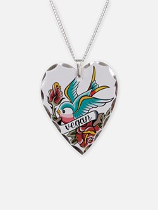 vegan tattoo design Necklace Heart Charm