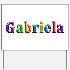 Gabriela Shiny Colors Yard Sign