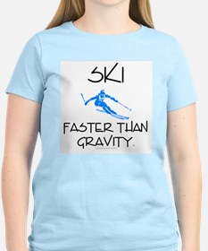 Ski Faster Than Gravity T-Shirt