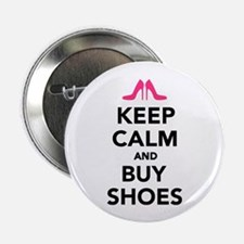 "Keep calm and buy shoes 2.25"" Button (10 pack)"