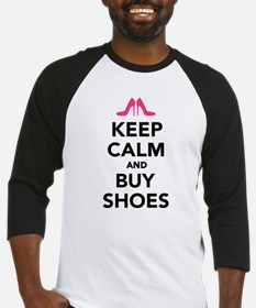 Keep calm and buy shoes Baseball Jersey