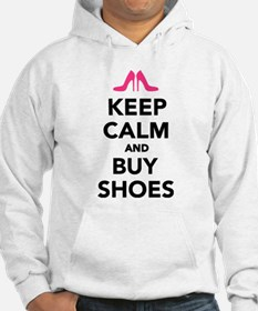 Keep calm and buy shoes Hoodie