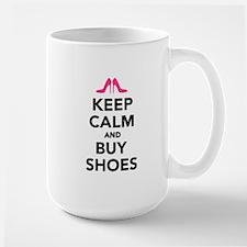 Keep calm and buy shoes Large Mug
