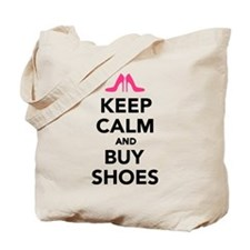Keep calm and buy shoes Tote Bag