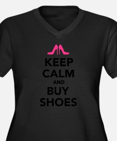 Keep calm and buy shoes Women's Plus Size V-Neck D