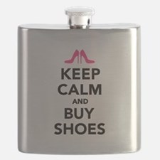 Keep calm and buy shoes Flask