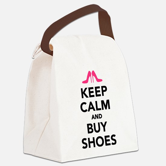 Keep calm and buy shoes Canvas Lunch Bag