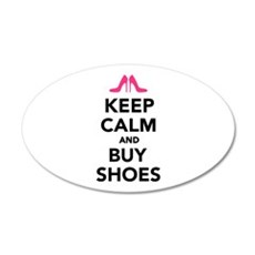 Keep calm and buy shoes Wall Decal
