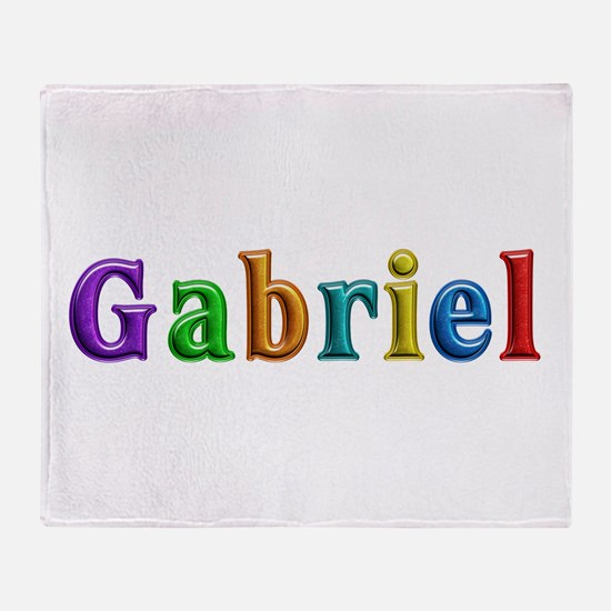 Gabriel Shiny Colors Throw Blanket