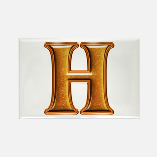 H Shiny Colors Rectangle Magnet