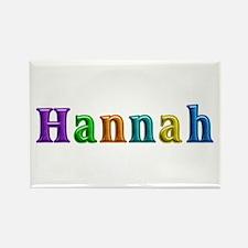 Hannah Shiny Colors Rectangle Magnet