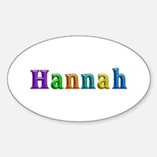 Hannah Shiny Colors Oval Decal