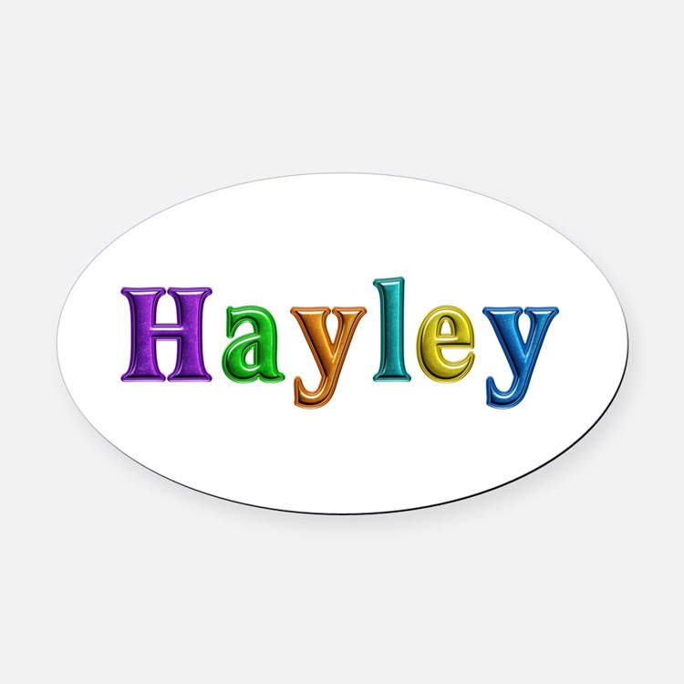 Hayley Shiny Colors Oval Car Magnet