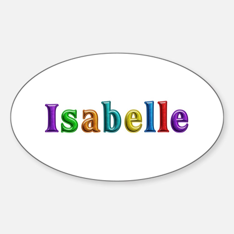 Isabelle Shiny Colors Oval Decal
