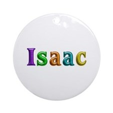 Isaac Shiny Colors Round Ornament