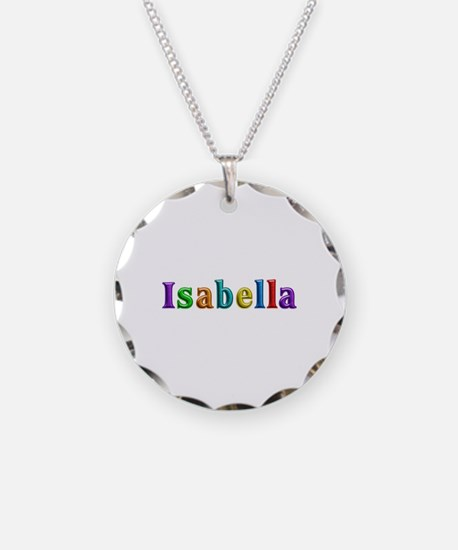 Isabella Shiny Colors Necklace Circle Charm