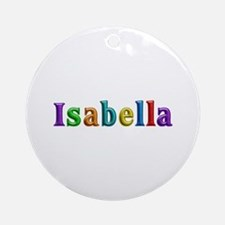 Isabella Shiny Colors Round Ornament