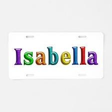 Isabella Shiny Colors Aluminum License Plate