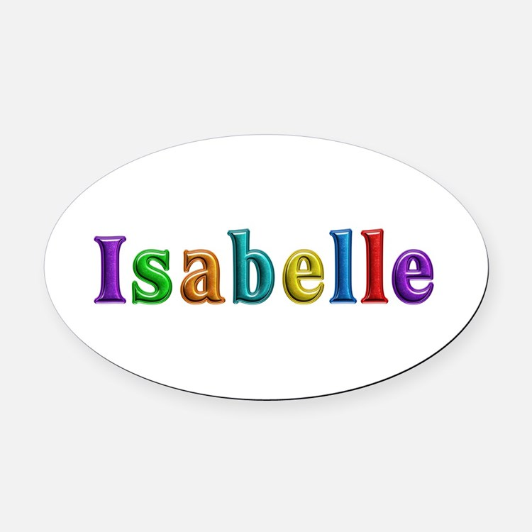 Isabelle Shiny Colors Oval Car Magnet