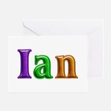 Ian Shiny Colors Greeting Card