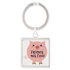 friends not food Square Keychain