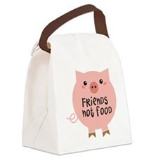 friends not food Canvas Lunch Bag
