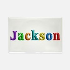 Jackson Shiny Colors Rectangle Magnet