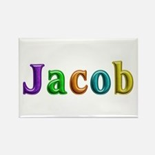 Jacob Shiny Colors Rectangle Magnet