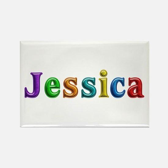 Jessica Shiny Colors Rectangle Magnet