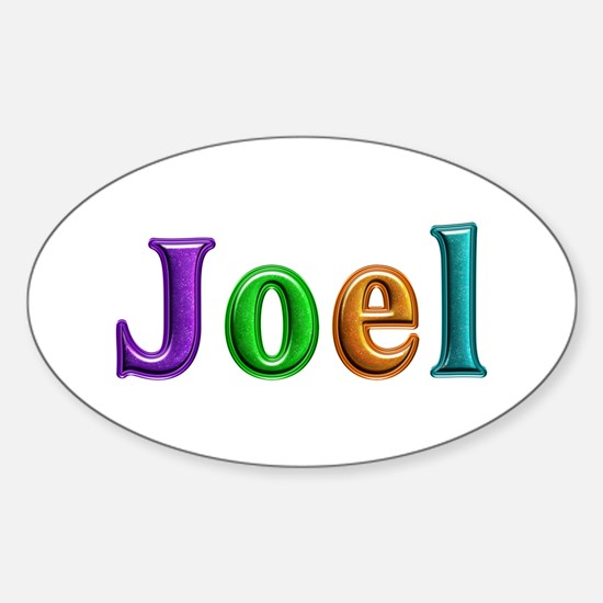 Joel Shiny Colors Oval Decal