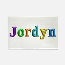 Jordyn Shiny Colors Rectangle Magnet
