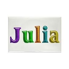 Julia Shiny Colors Rectangle Magnet