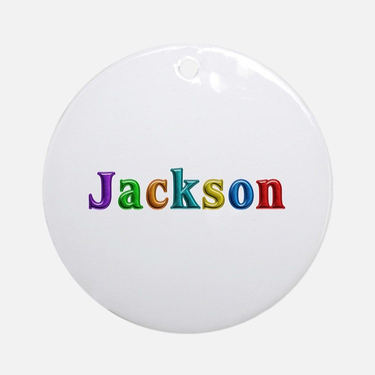 Jackson Shiny Colors Round Ornament