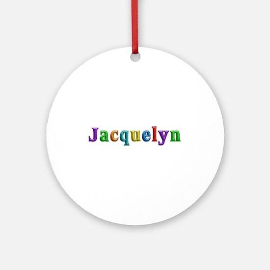 Jacquelyn Shiny Colors Round Ornament