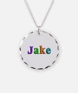 Jake Shiny Colors Necklace Circle Charm