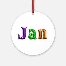 Jan Shiny Colors Round Ornament
