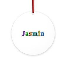 Jasmin Shiny Colors Round Ornament