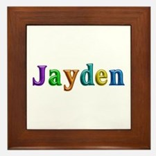 Jayden Shiny Colors Framed Tile