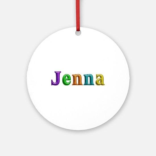 Jenna Shiny Colors Round Ornament