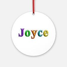 Joyce Shiny Colors Round Ornament