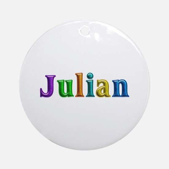 Julian Shiny Colors Round Ornament