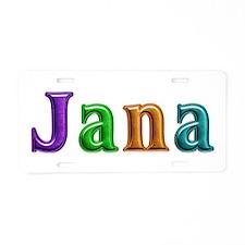 Jana Shiny Colors Aluminum License Plate