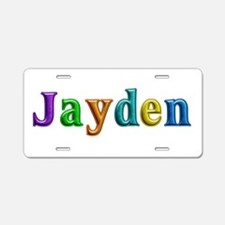 Jayden Shiny Colors Aluminum License Plate