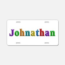 Johnathan Shiny Colors Aluminum License Plate
