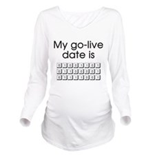 Binary Due Date May Long Sleeve Maternity T-Shirt