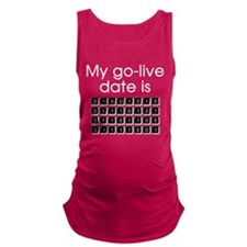 Binary Due Date July Maternity Tank Top