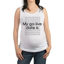 Binary Due Date September Maternity Tank Top