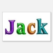 Jack Shiny Colors Rectangle Decal
