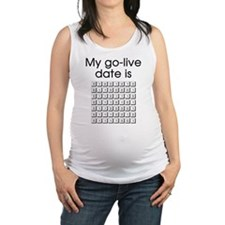 Binary Due Date January Maternity Tank Top