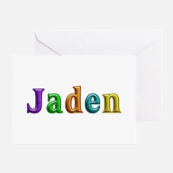 Jaden Shiny Colors Greeting Card